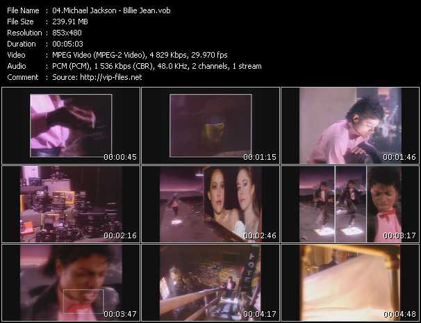 video Billie Jean screen