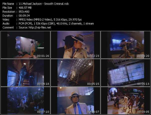 video Smooth Criminal screen