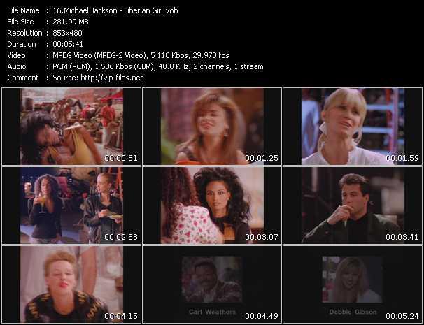 video Liberian Girl screen