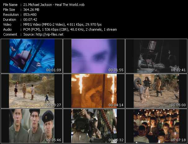 video Heal The World screen
