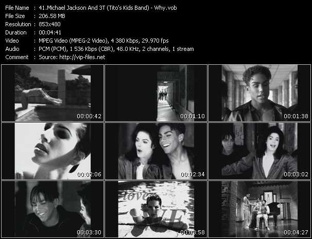 Michael Jackson And 3T (Tito's Kids Band) video screenshot