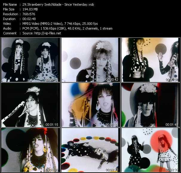 Strawberry Switchblade video screenshot