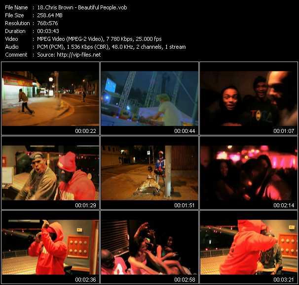 Chris Brown video screenshot