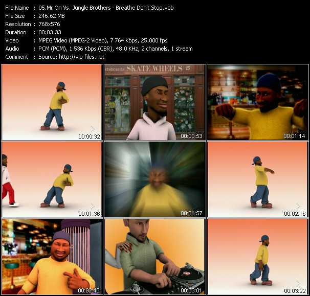 Mr. On Vs. The Jungle Brothers video screenshot