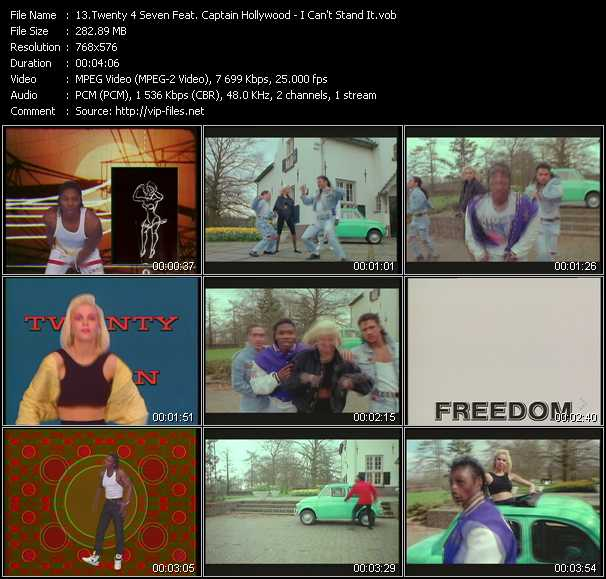 Twenty 4 Seven Feat. Captain Hollywood video screenshot