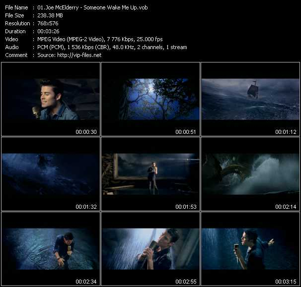 Joe McElderry video screenshot