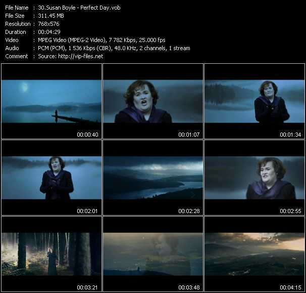 Susan Boyle video screenshot