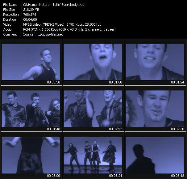 Human Nature video screenshot