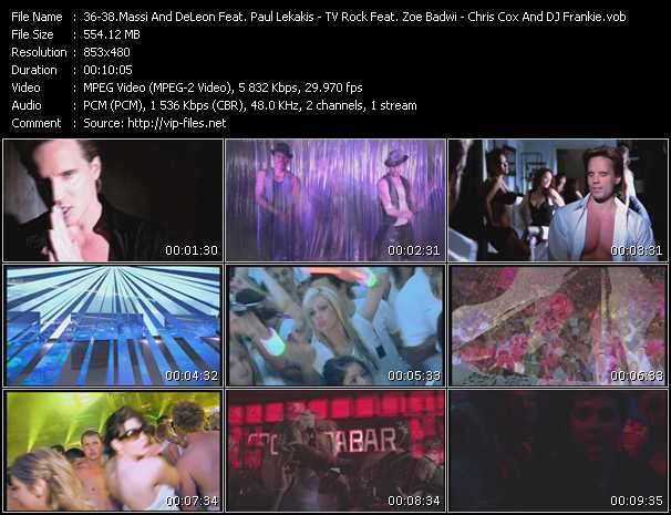 Massi And DeLeon Feat. Paul Lekakis - TV Rock Feat. Zoe Badwi - Chris Cox And DJ Frankie video screenshot