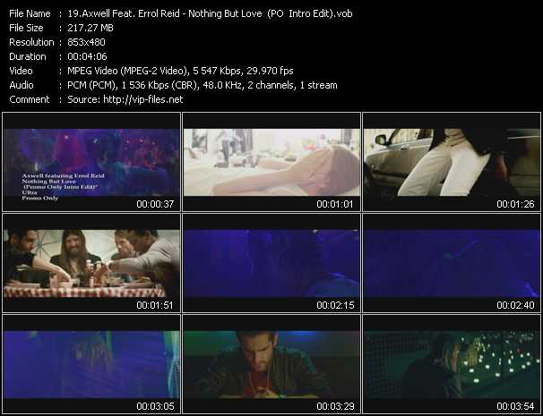 Axwell Feat. Errol Reid video screenshot