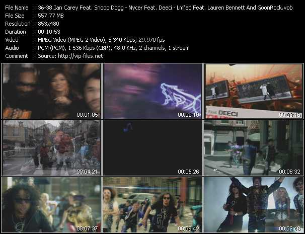 Ian Carey Feat. Snoop Dogg And Bobby Anthony - Nycer Feat. Deeci - Lmfao Feat. Lauren Bennett And GoonRock video screenshot