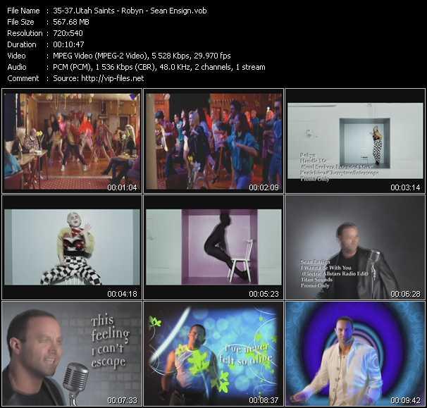 Utah Saints - Robyn - Sean Ensign video screenshot