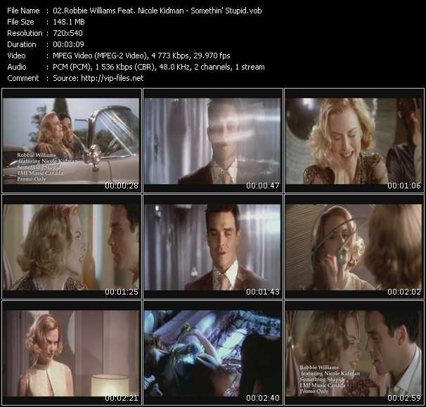 Robbie Williams And Nicole Kidman video screenshot