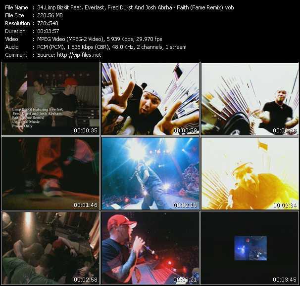Limp Bizkit Feat. Everlast, Fred Durst And Josh Abrha video screenshot
