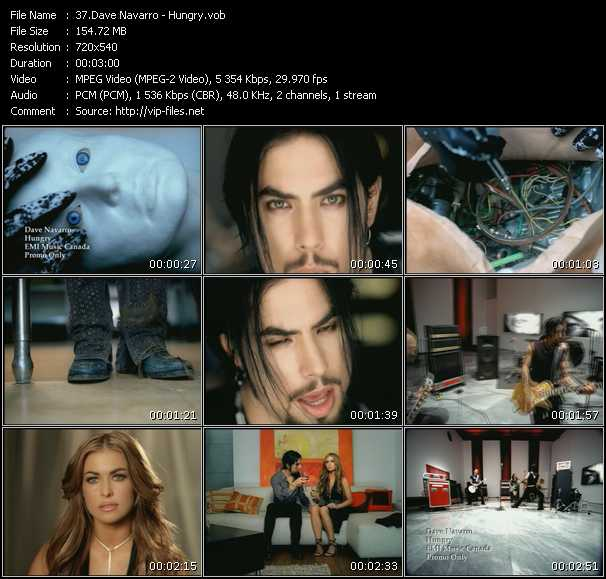Dave Navarro video screenshot