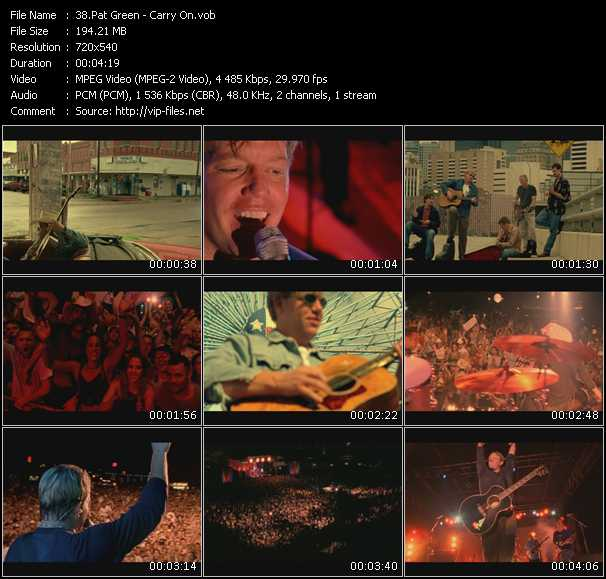 Pat Green video screenshot