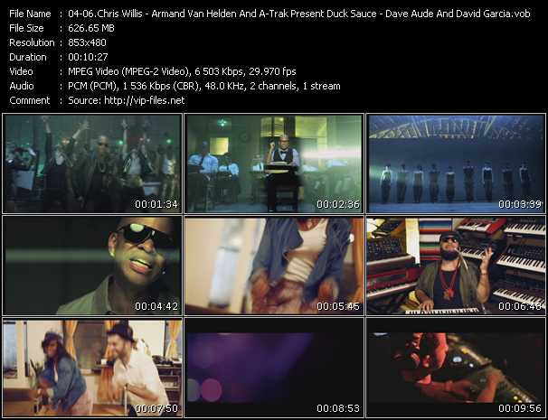 Chris Willis - Armand Van Helden And A-Trak Present Duck Sauce - Dave Aude And David Garcia Feat. Sisely Treasure video screenshot