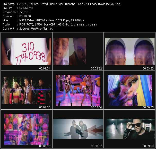 I Square - David Guetta Feat. Rihanna - Taio Cruz Feat. Travis McCoy video screenshot