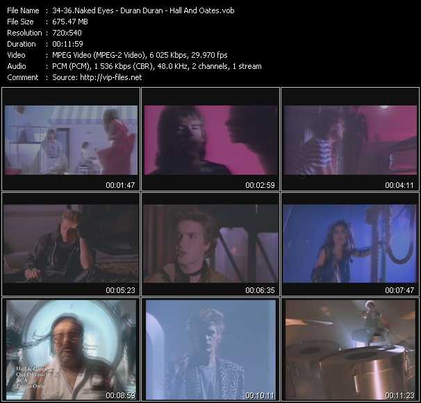 Naked Eyes - Duran Duran - Hall And Oates (Daryl Hall And John Oates) video screenshot
