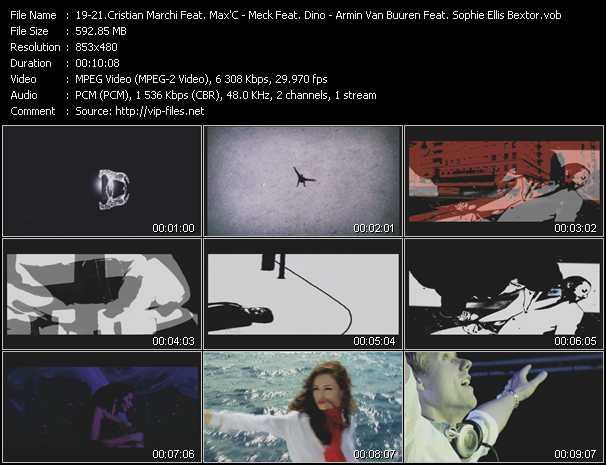Cristian Marchi And Nari And Milani Feat. Max'C - Meck Feat. Dino - Armin Van Buuren Feat. Sophie Ellis-Bextor video screenshot