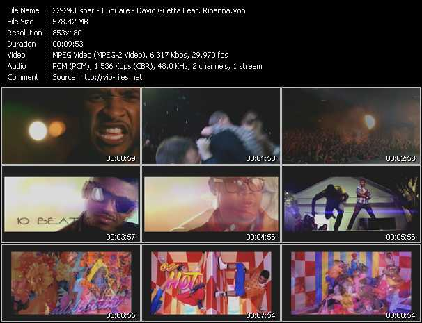 Usher - I Square - David Guetta Feat. Rihanna video screenshot