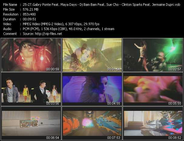 Gabry Ponte Feat. Maya Days - Dj Bam Bam Feat. Sue Cho - Clinton Sparks Feat. Jermaine Dupri And DJ Class video screenshot