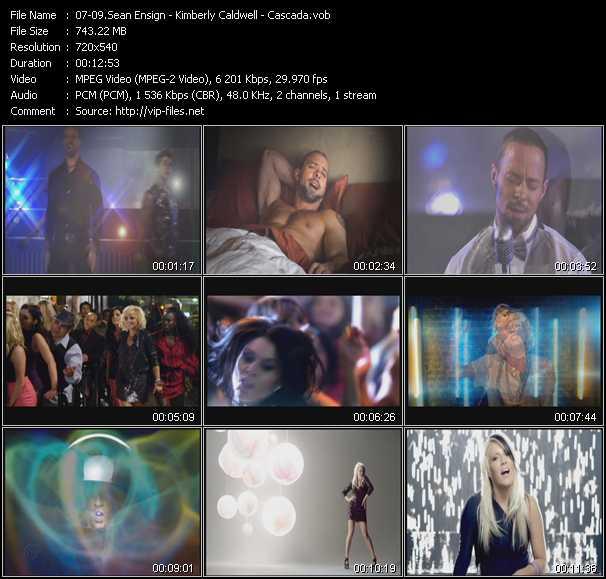 Sean Ensign - Kimberly Caldwell - Cascada video screenshot