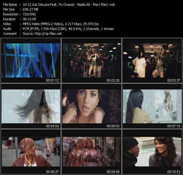 Kat DeLuna Feat. Fo Onassis - Nadia Ali - Mary Mary video screenshot