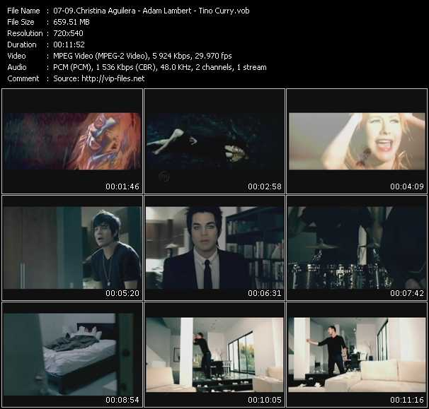 Christina Aguilera - Adam Lambert - Tino Coury video screenshot
