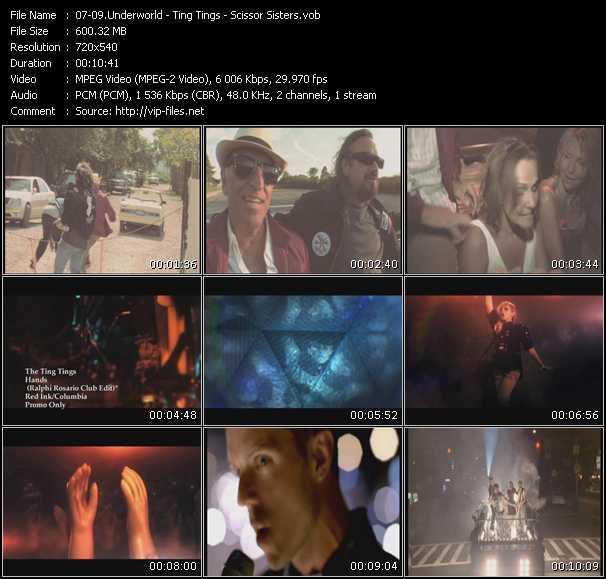 Underworld - Ting Tings - Scissor Sisters video screenshot