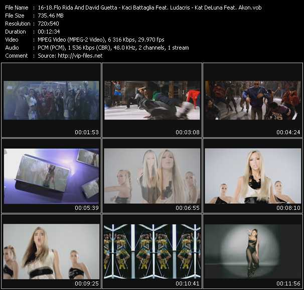 Flo Rida Feat. David Guetta - Kaci Battaglia Feat. Ludacris - Kat DeLuna Feat. Akon video screenshot