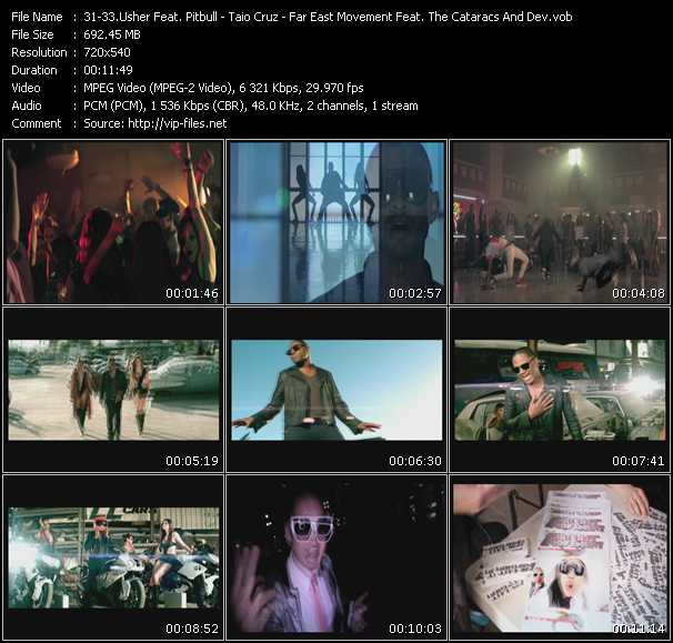 Usher Feat. Pitbull - Taio Cruz - Far East Movement Feat. The Cataracs And Dev video screenshot