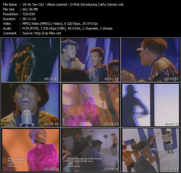 Ten City - Alison Limerick - D-Mob Introducing Cathy Dennis video screenshot