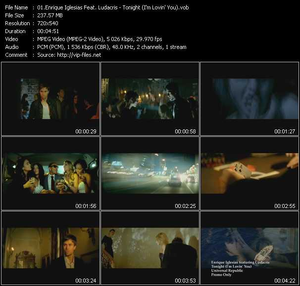 Enrique Iglesias Feat. Ludacris video screenshot
