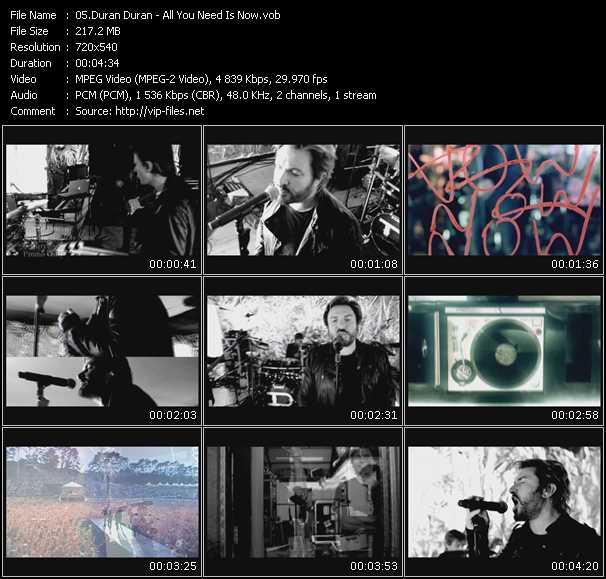 Duran Duran video screenshot