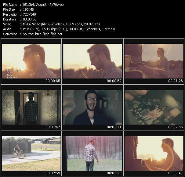 Chris August video screenshot