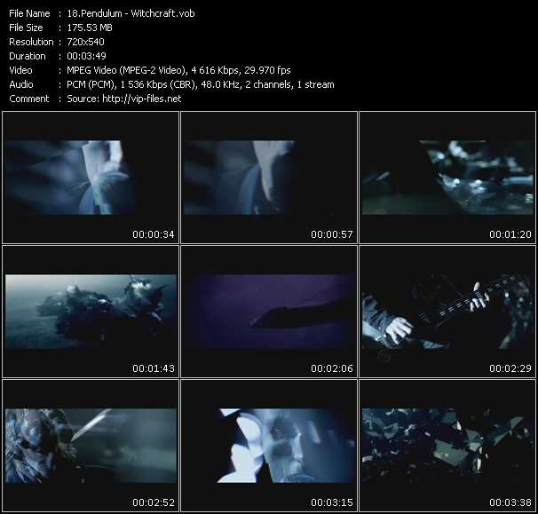Pendulum video screenshot