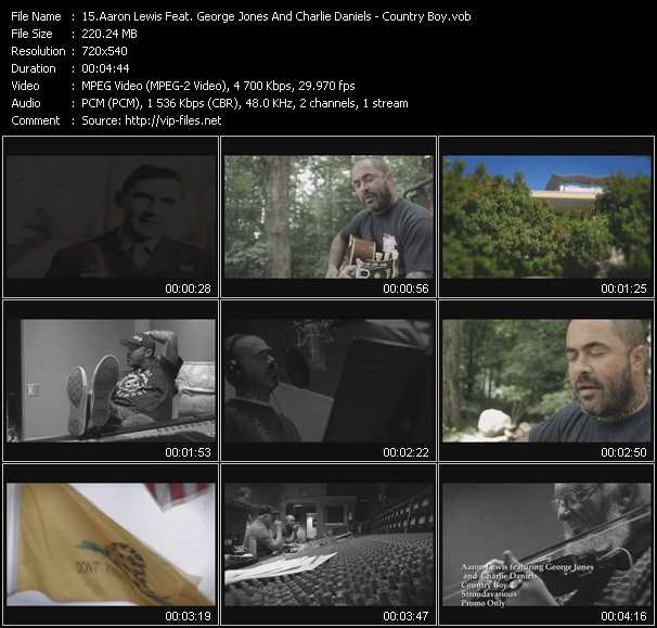 Aaron Lewis Feat. George Jones And Charlie Daniels video screenshot
