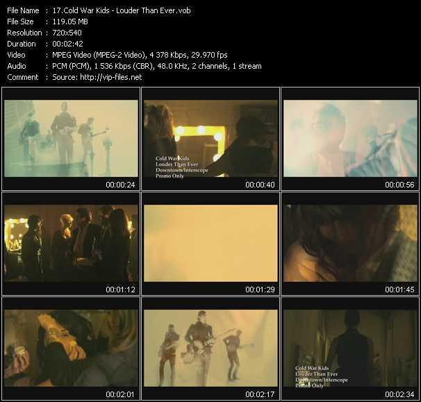 Cold War Kids video screenshot
