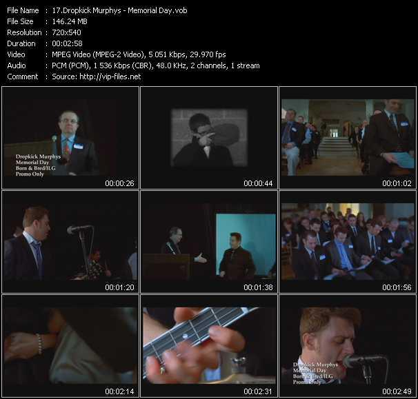 Dropkick Murphys video screenshot