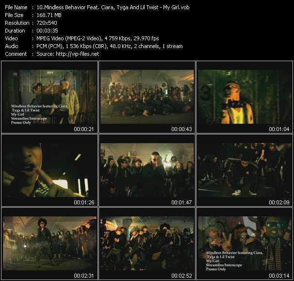Mindless Behavior Feat. Ciara, Tyga And Lil' Twist video screenshot
