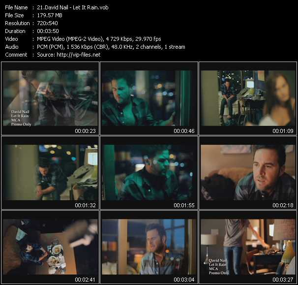 David Nail video screenshot