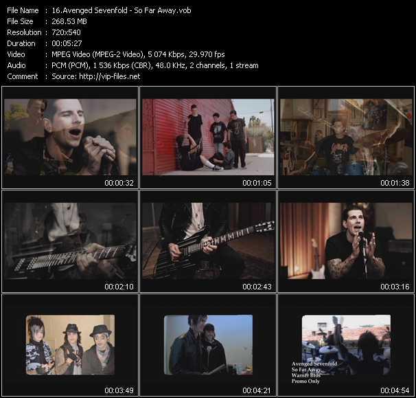 Avenged Sevenfold video screenshot