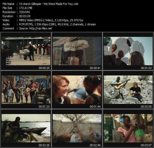 Aaron Gillespie video screenshot