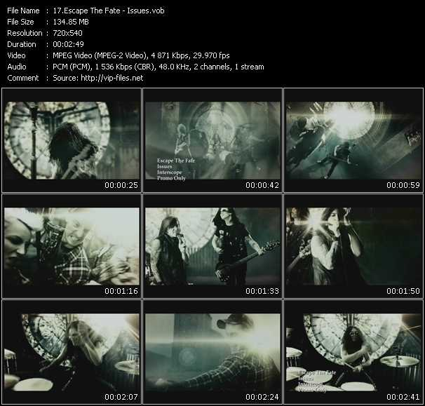 Escape The Fate video screenshot