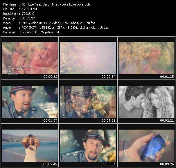 Hope Feat. Jason Mraz video screenshot