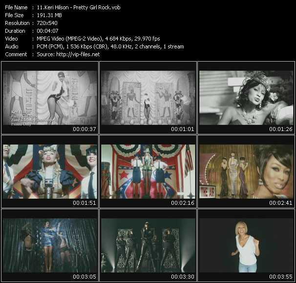 video Pretty Girl Rock screen