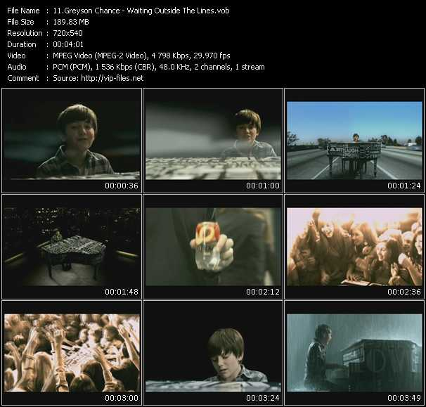 Greyson Chance video screenshot