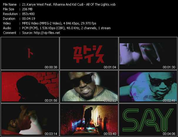 Kanye West Feat. Rihanna And Kid Cudi video screenshot