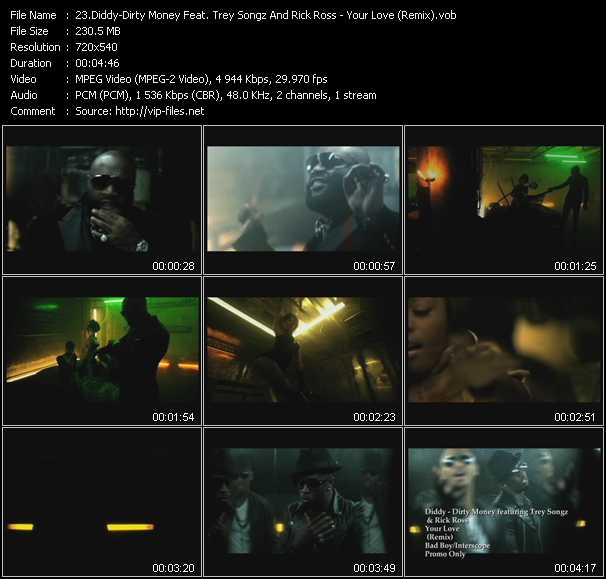Diddy - Dirty Money Feat. Trey Songz And Rick Ross video screenshot